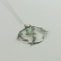 Silver seagull necklace