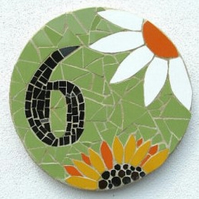Decorative mosaic house number, made to order