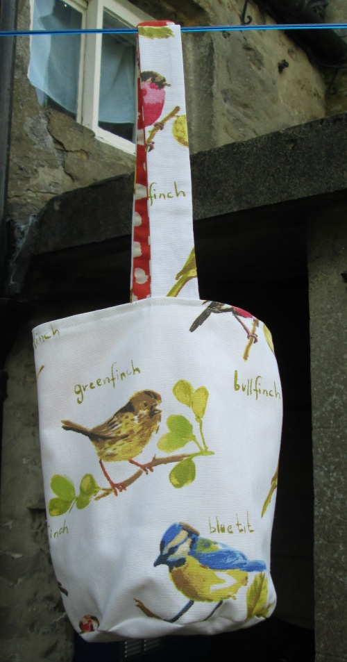 Birds Peg Bag with Button Fastening