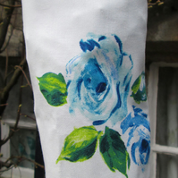 Blue Roses Carrier Bag Holder