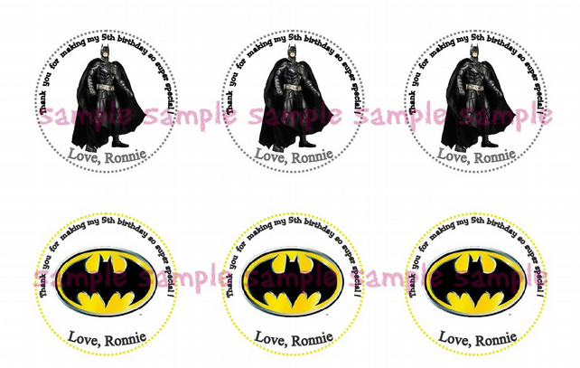 picture about Batman Cupcake Toppers Printable referred to as Batman Birthday Printable Tags- Customized Tags - Cupcake Toppers, Tags Do-it-yourself