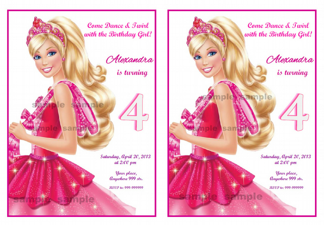 Barbie Birthday Invitations Images Invitation Templates Free Download