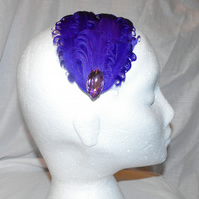 Purple Jewelled Feather Hair Clip *** Reserved for floppsiemoppsie****