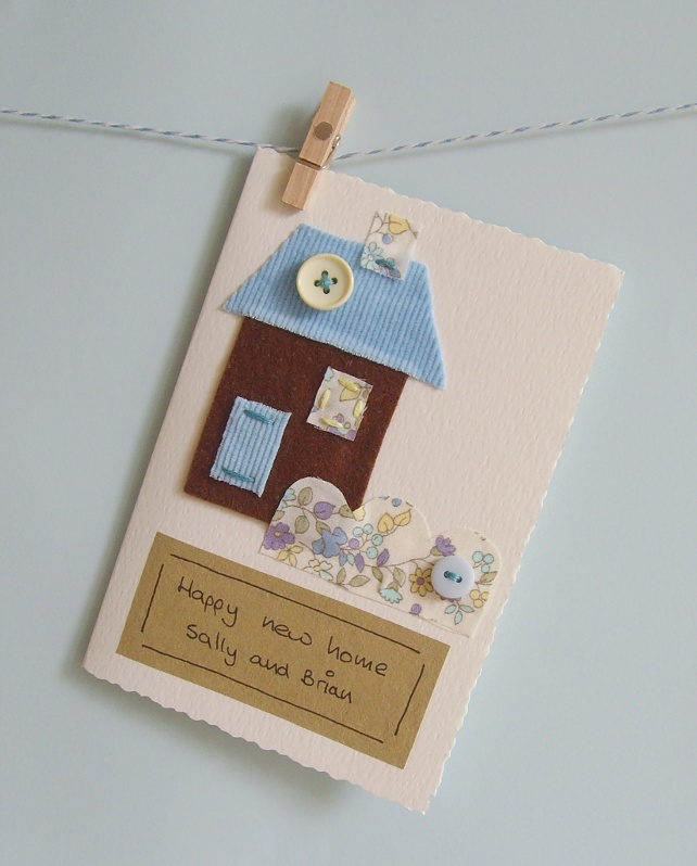 New home card Handmade with your own message.
