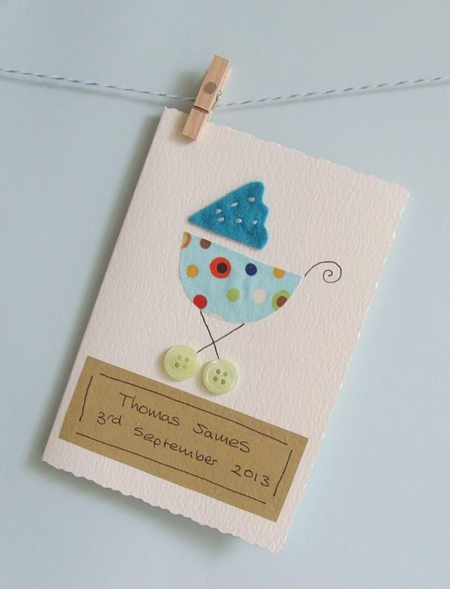 New baby card personalised