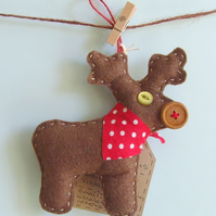 christmas tree decoration handmade reindeer