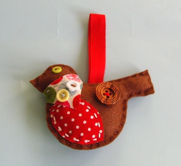 Christmas sewing craft kit Rosie Robin