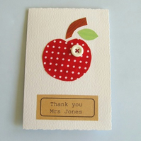 Handmade thank you card Teacher