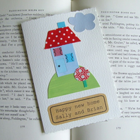 New home card personalised with your own message