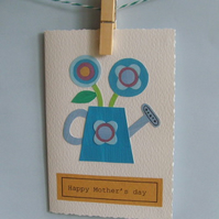 Handmade Mothers day card personalised