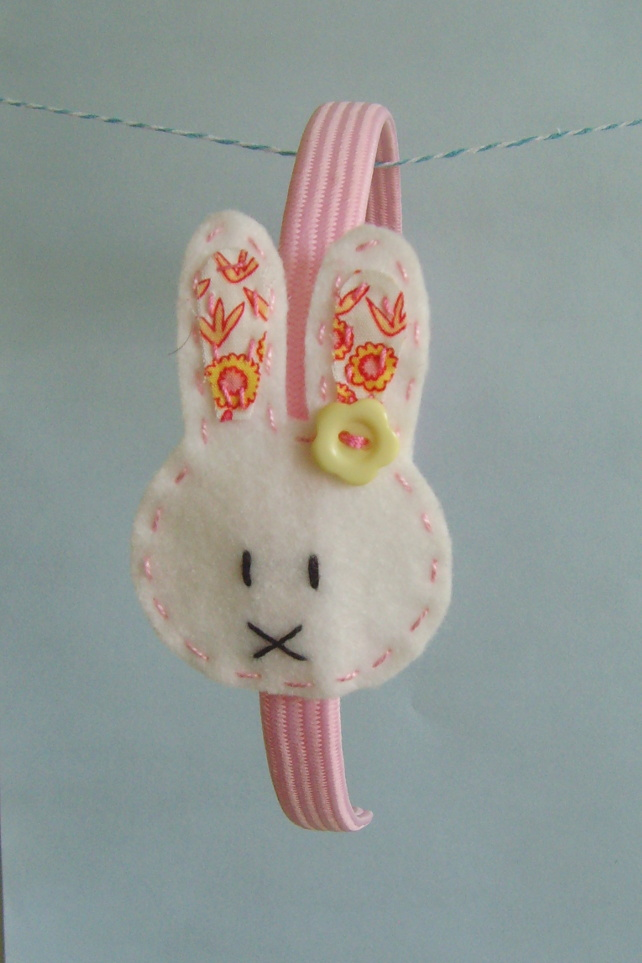 hairband handmade Rosie rabbit