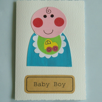 New baby card boy personalised