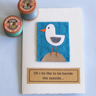 birthday card Seagull handmade