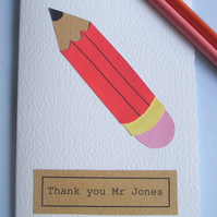 Thank you card for a teacher