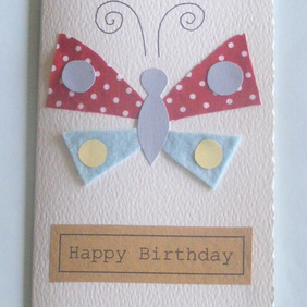 Handmade birthday card can be personalised