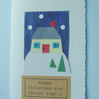 Handmade christmas card can be personalised