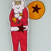 Father christmas craft kit can be personalised
