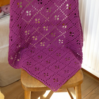 Plum 'Call the Midwife' inspired crochet Baby Blanket