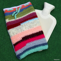 Stripey Hot Water Bottle Cover