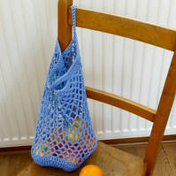 Blue Cotton String Bag, 36 x 26 cm