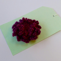 Wool Loopy Flower Brooch, 7 cm