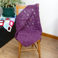 Mauve 'Call the Midwife' Inspired Baby Blanket
