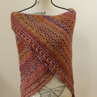 Autumn 'Wrapped in Warmth' 100% wool Shawl