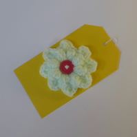 Hint of Mint Popcorn Flower Brooch, 8 cm