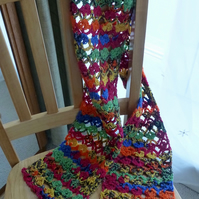 Colourful 'New Season' Scarf, 154 x 18 cm