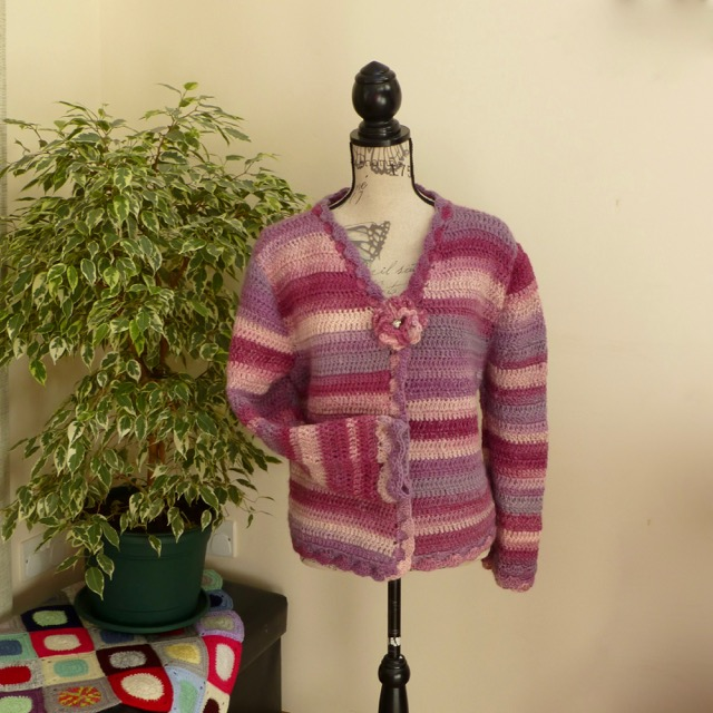 Rose Garden 100% Wool Cardigan