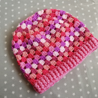 Perfectly Pink Crochet Hat (3-5 years)