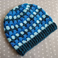 Beautiful Blue Crochet Hat (3-5 years)