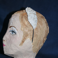 Headband with bead decorated lace