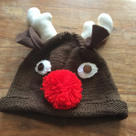 Children's Christmas Reindeer hat (aged 9-12 years)