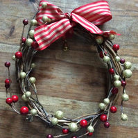 Berry and bow wreath