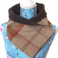 Brown, Beige and Rust Red tartan neck warmer