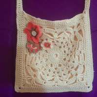 Shoulder crochet bag