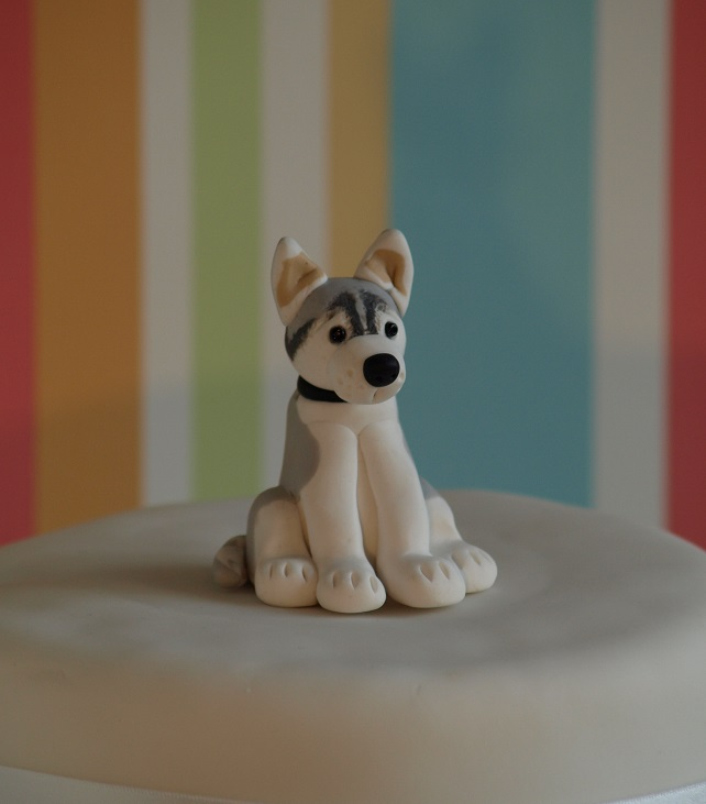 Husky Dog Cake Topper