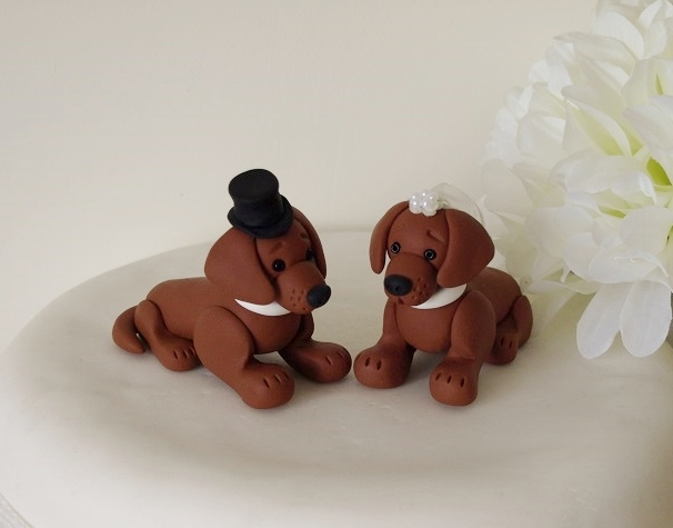 wedding cake toppers bride groom and dog and groom wedding cake topper folksy 26422