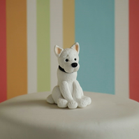 West Highland White Terrier cake topper