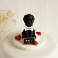 Black Labrador Cake Topper - Dog Cake Topper - Custom Cake Topper - ANY BREED