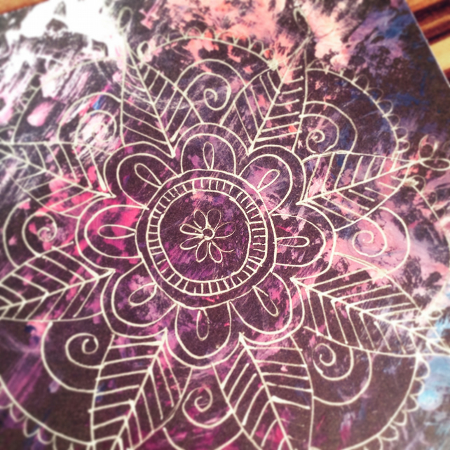 Mandala square card