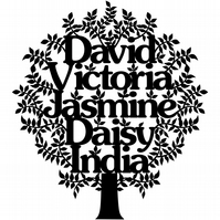 Laser-Cut Family Tree - Personalised