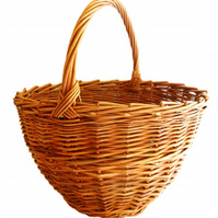 Make this willow Shopping Basket: a weaving kit for beginners.