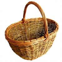 Make this Oval Willow Shopping Basket: a weaving kit for improvers