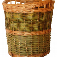 Make this Willow Log Basket, a Weaving Kit for Beginners