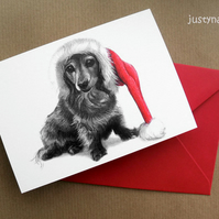 Pet - Christmas Cards - Daxon - dog art