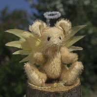 "OOAK A Meece Amis Artist Mouse by Tabbyclouds  ""Belle"" (Mohair Collector Bear)"