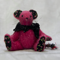 "OOAK A Meece Amis Artist Mouse by Tabbyclouds ""Mary"" (Mohair Collector Bear)"