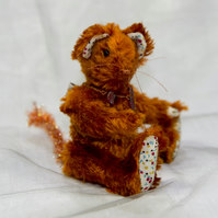 "Meece Amis Artist Mouse by Tabbyclouds ""Coppermouse"" OOAK Vintage Rayon"